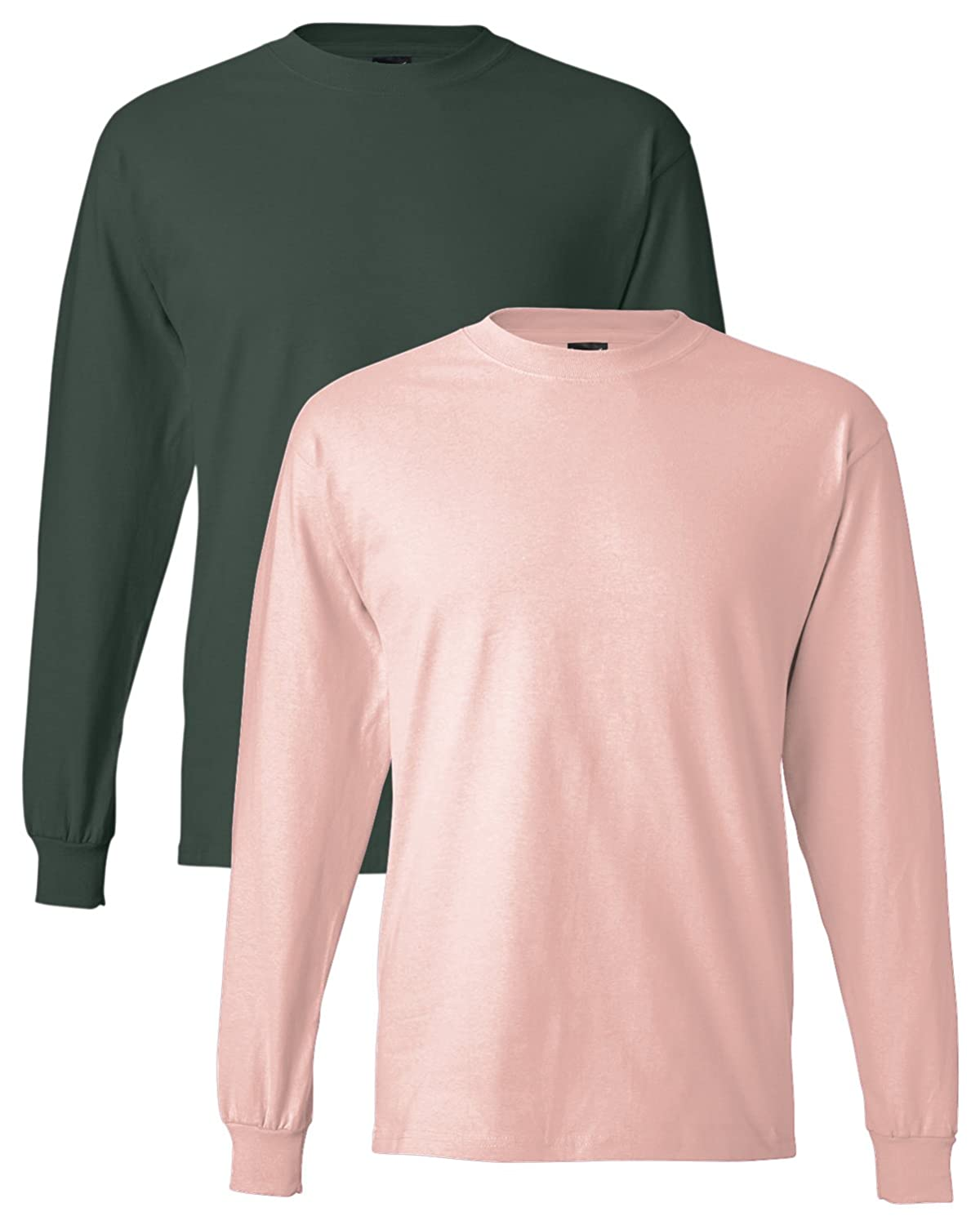 Hanes Men's Long-Sleeve Beefy-T Shirt (Pack of 2) at Amazon Men's ...