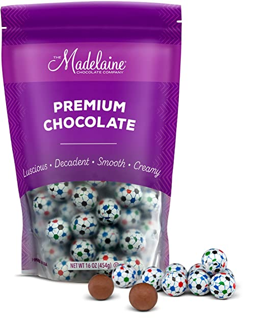 Madelaine Premium Milk Chocolate Soccer Ball Candy Party Favors (1 LB)
