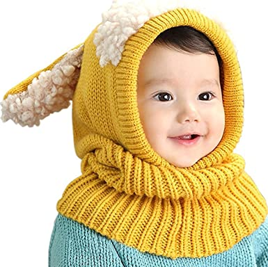 f6a946396e710a ベビーニット帽 赤ちゃん キッズ 帽子 子供 用 ニット帽子 うさぎちゃん風 ニット帽 プレゼント
