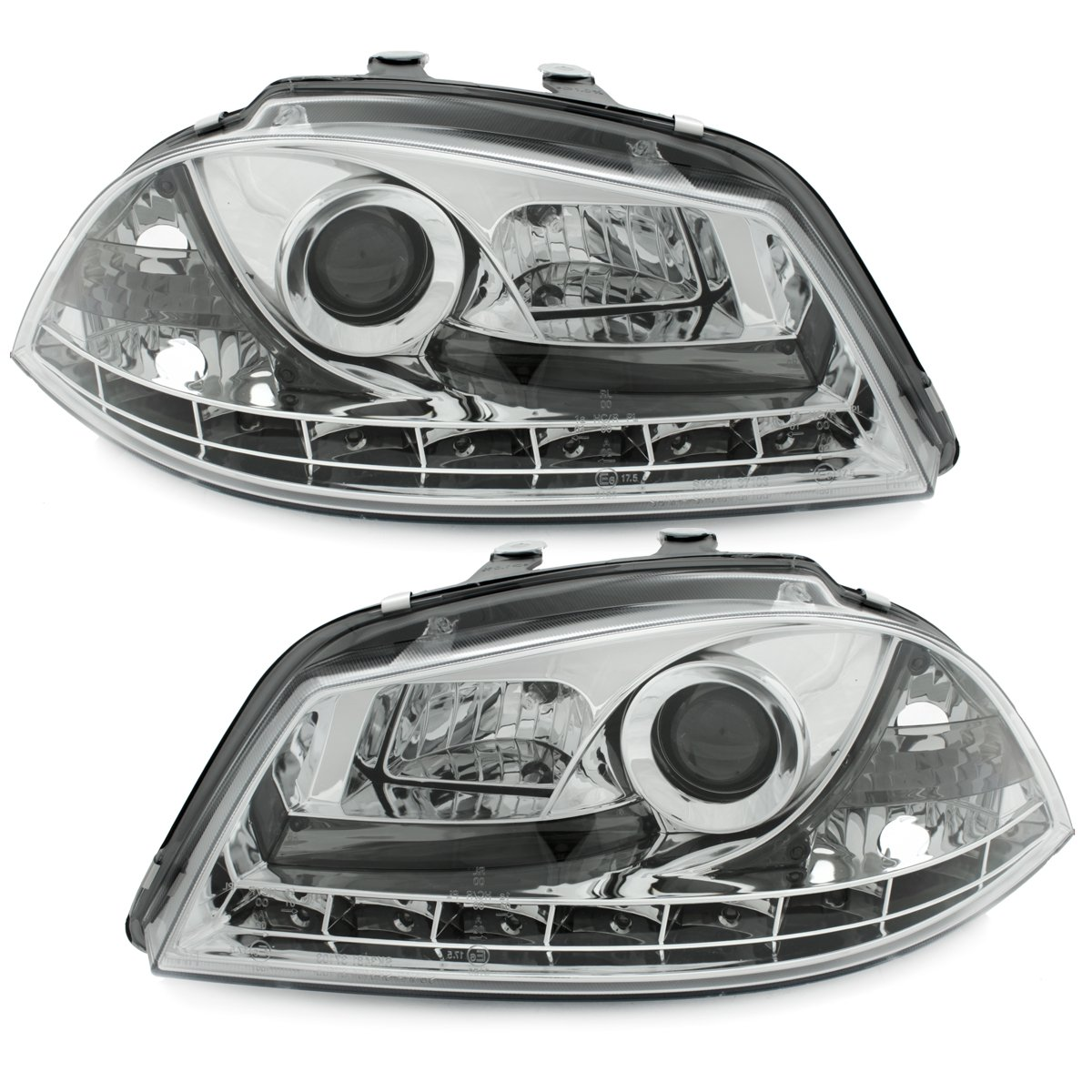 Dectane SWSI05GX DAYLINE Scheinwerfer Seat Ibiza 6L 03-08 /_TFL-Optik chrome