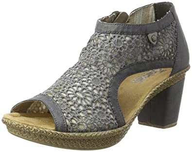gut kaufen einzigartiges Design 60% Rabatt Rieker Women's 66578 Wedge Heels Sandals