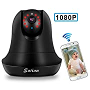Baby Monitor, 1080P FHD Video Baby Monitor with Camera, Two Way Talk, Night Vision and Motion Detection. Pet Camera, Wireless WiFi Surveillance Security Camera with Pan and Tilt for Home and Business