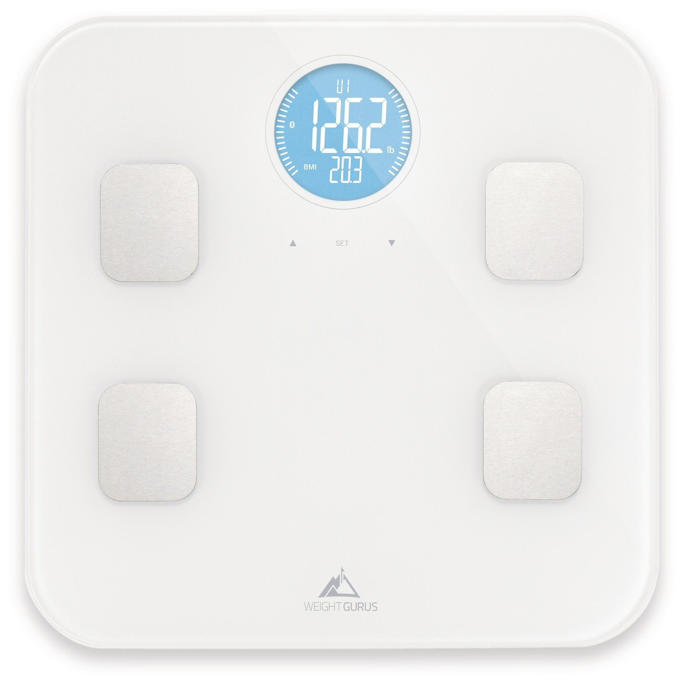 Weight Gurus Bluetooth Body Composition Scale, 8 Profiles, White - Up to 18 Years