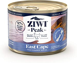 ZIWI Peak Provenance Canned Wet Cat Food – All Natural, High Protein, Grain Free with Superfoods
