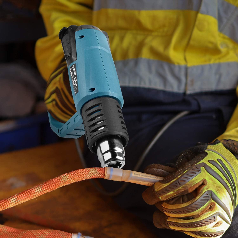 Hei/ßluftpistole mit 4 D/üsen und Kratzer Luftdurchsatz 250-500L//min 3 Temperaturregelung 50℃-400℃-600℃ WESCO 2000W Professional Heissluftgebl/äse Hei/ßluftf/ön