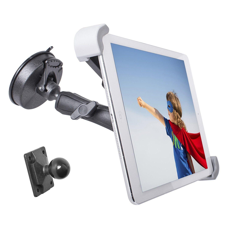 フロントガラスダッシュボードカーマウント、タブレットマウントまたはダッシュ車ホルダーマウントfor Huawei MediaPad m5 W /防振Swivel Cradle (またはケースのない) B0792FTK3B