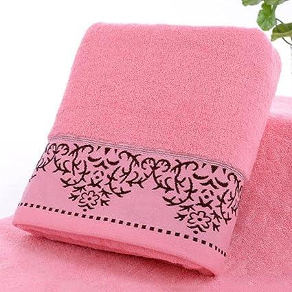 Wddwarmhome Toalla De Baño Rosa Algodón Toallas Absorbentes Suaves Hotel Para Hombres Y Mujeres Amantes Toalla