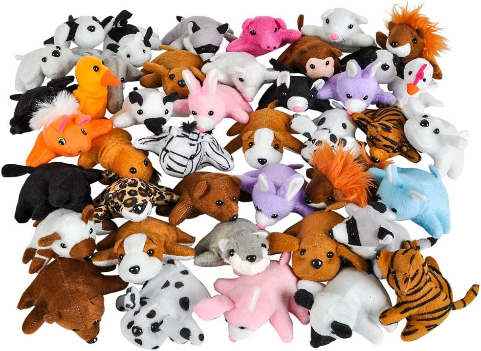 Fur Real Stuffed Animals, Amazon Com Rhode Island Novelty 3 Inch Bean Bag Plush Assortment 50 Pieces Per Order Home Kitchen