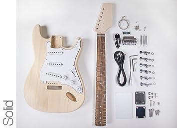 DIY Kit de guitarra eléctrica - Strat estilo construir tu propia guitarra: Amazon.es: Instrumentos musicales