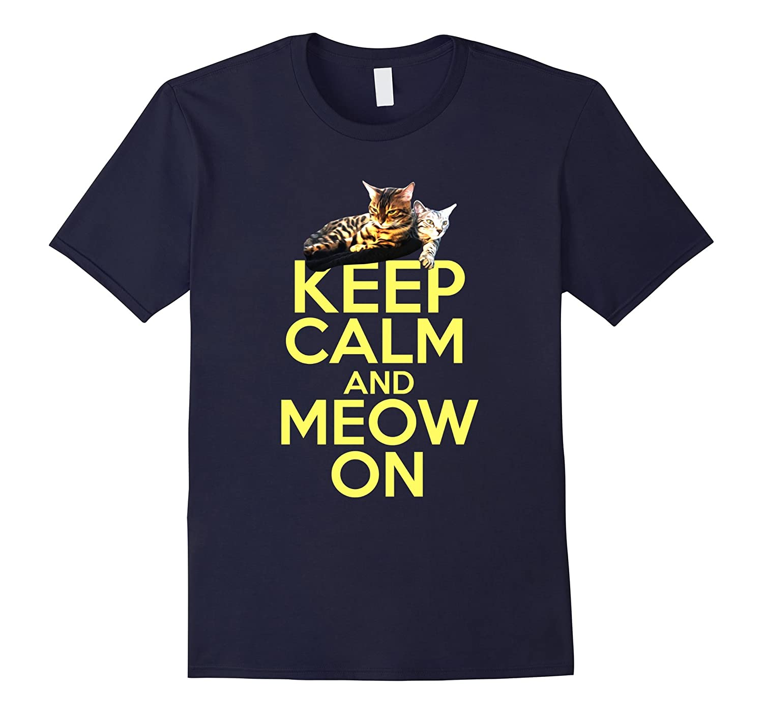 Cat Lovers - Keep Calm and Meow on Tee-ANZ