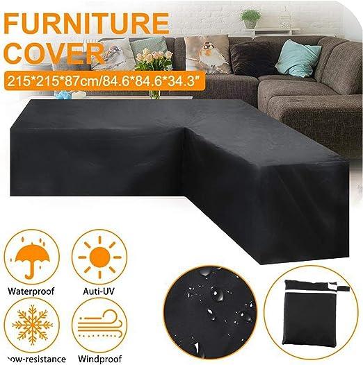 FAT BIG CAT - Funda para sofá esquinero Impermeable en Forma de L de ratán para Muebles de jardín o Patio, Funda Protectora para Todo Uso al Aire Libre, 4 tamaños: Amazon.es: