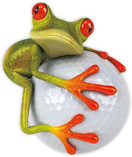 Younikat Sticker Frog Golf Ball I 14 X 16 5 Cm I Vehicle Sticker Weatherproof Car Sticker Motorcycle Laptop For Golfers Golf Player I Kfz 379 Auto