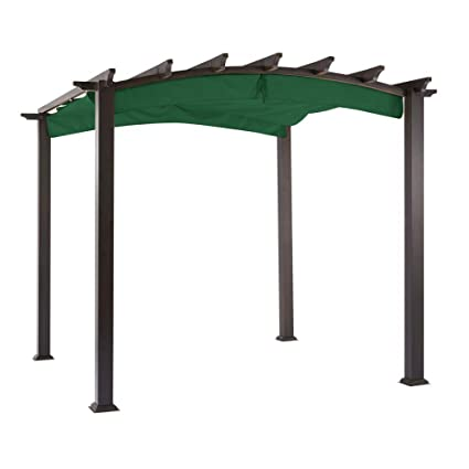 Garden Winds Replacement Canopy The Hampton Bay Arched Pergola - Riplock  350 - Green - Amazon.com : Garden Winds Replacement Canopy The Hampton Bay Arched