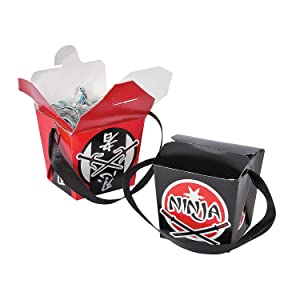 Fun Express - Ninja Take Out Boxes for Birthday - Party Supplies - Containers & Boxes - Paper Boxes - Birthday - 12 Pieces