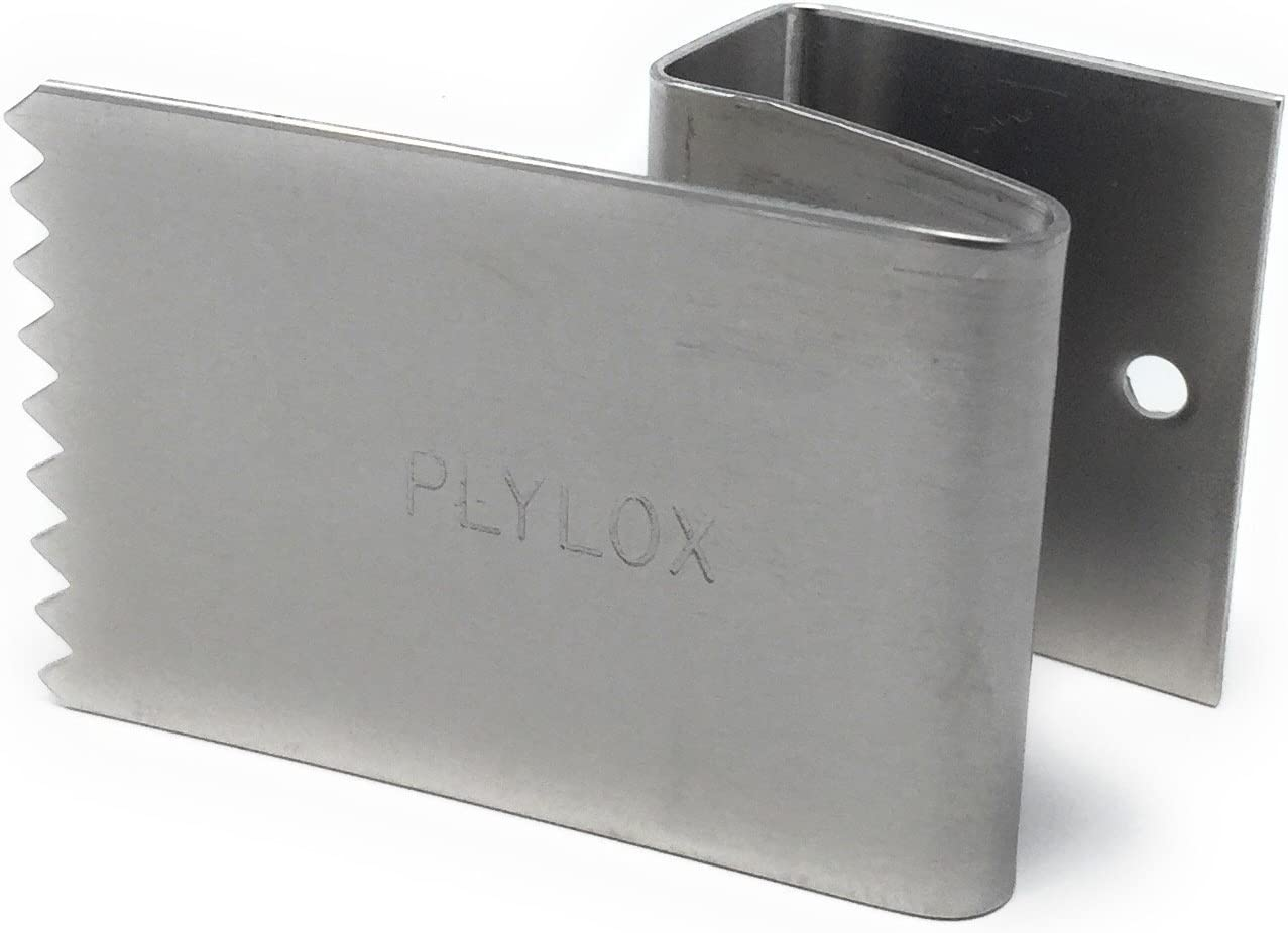 "PLYLOX Hurricane Window Clips 20 Pack (Stainless Steel, 3/4"")"