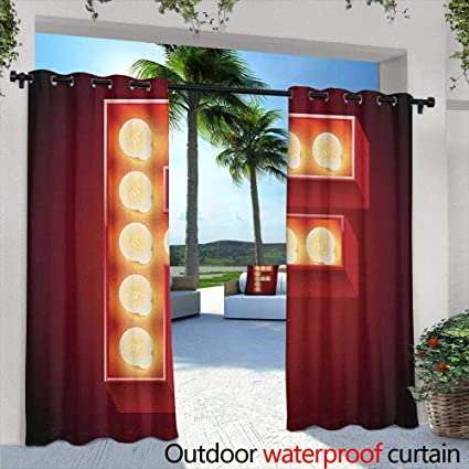 Amazon.com: Letter F Custom Outdoor Curtain Capital F ...