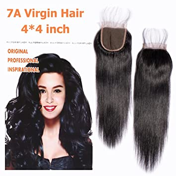 d5c02cbaf15 Lace Frontal 14'' Short/Long Straight Closure Only With Baby Hair 4x4 Free