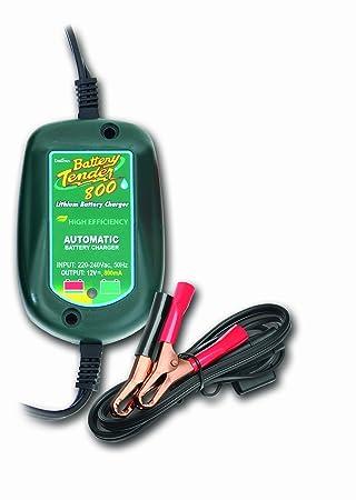 Battery Tender 022-0203-DL-EU Cargador de Batería Litio Impermeable, 12V, 800mA
