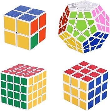 OBEST Cubo Mágico Puzzle Bundle Pack, Dodecaedro Mágico Cube+Set 2x2x2,3x3x3,4x4x4 (4-Pack): Amazon.es: Juguetes y juegos