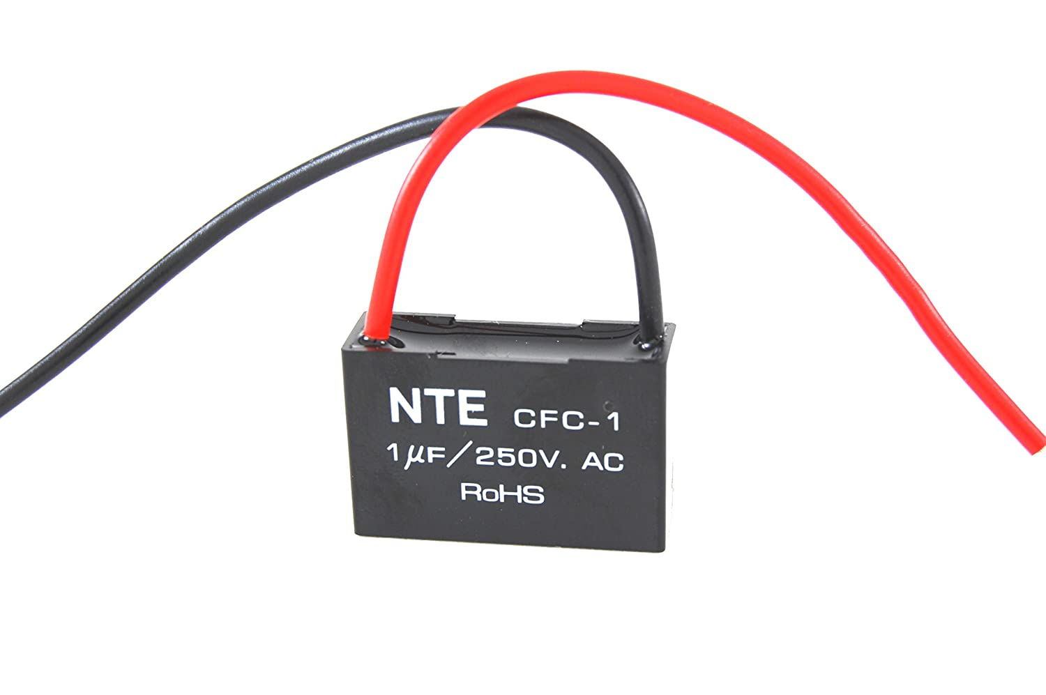 3 Wire 3//6 /Μf Capacitance Inc. 125//250 VAC NTE Electronics CFC-3//6 Series CFC Polyester Ceiling Fan Capacitor