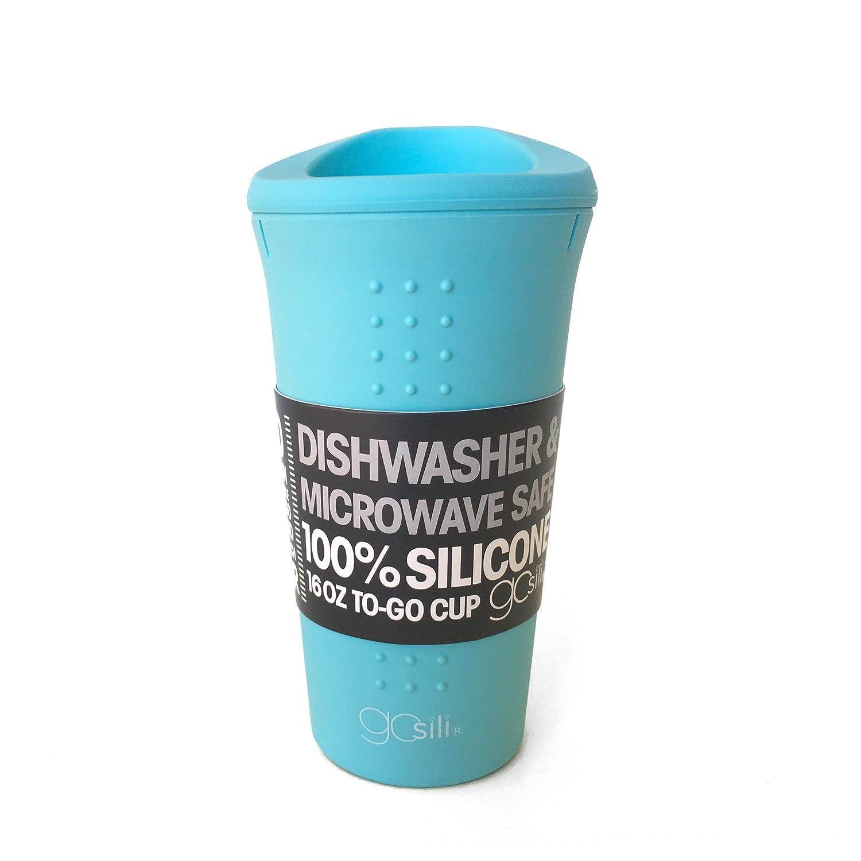 Sky Blue Cup To 16 oz To-Go Coffee or Tea Mug GoSili GSCOFF04 To
