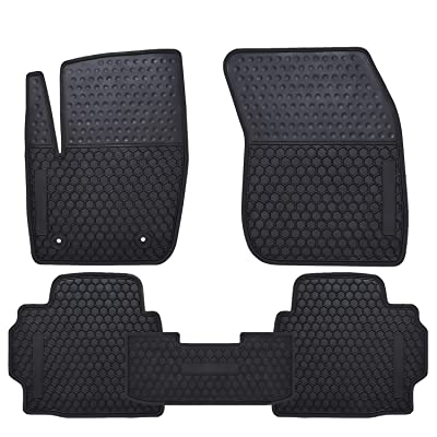 Ucaskin Car Floor Mats Custom Fit for Ford Fusion 2013 2014 2015 2016 2020 2020 2020 2020 Odorless Washable Rubber Foot Carpet Heavy Duty Anti-Slip All Weather Protection Car Floor Liner-Black: Automotive