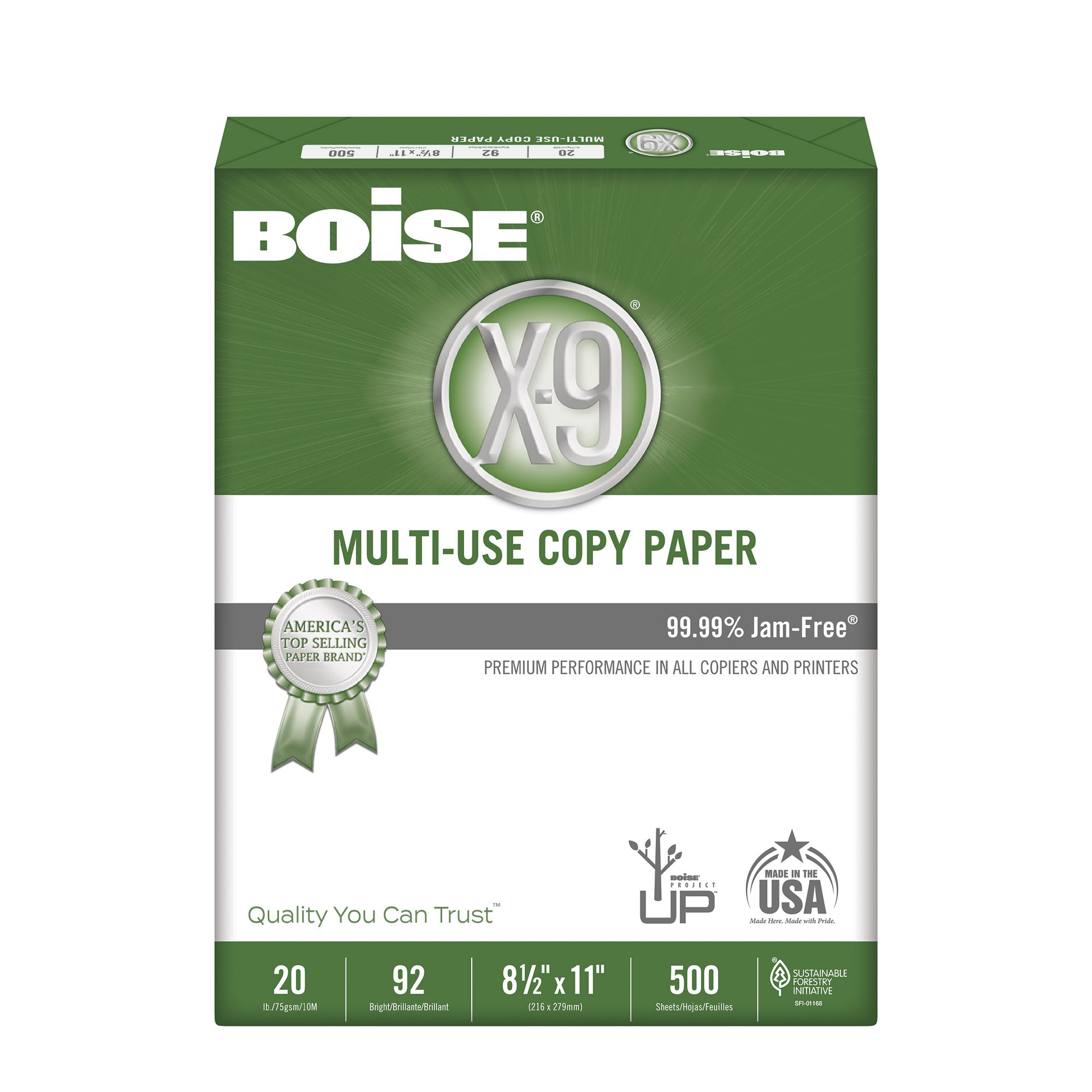 BOISE X-9 Multi-Use Copy Paper, 8.5 x 11, 92 Bright White, 20 lb, 3 ream carton (1,500 Sheets) by Boise Paper (Image #3)