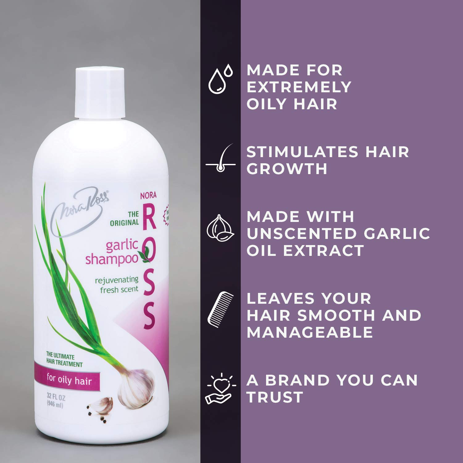 Nora Ross Garlic shampoo for hair loss