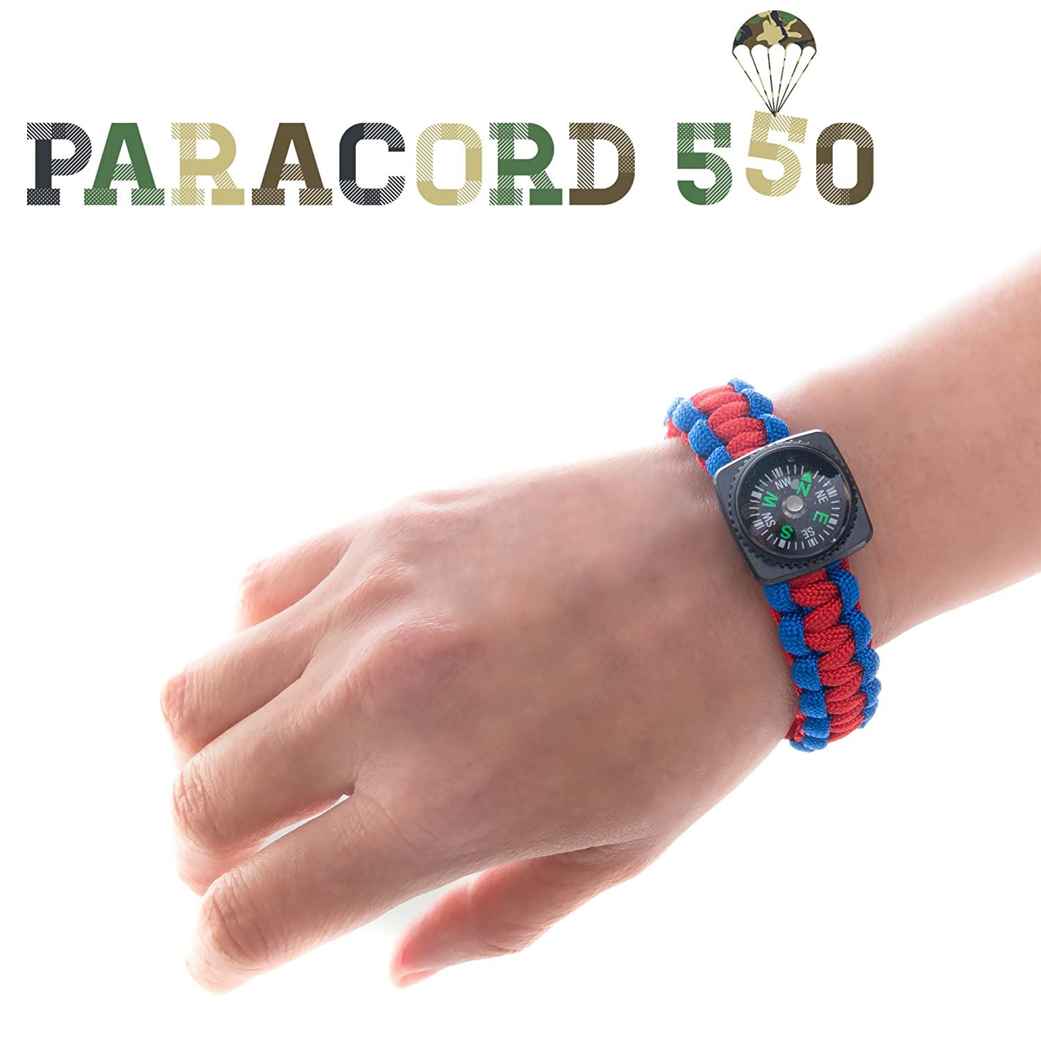 Compass Paracord Bracelet Set for Men Teen Boys 6 Pack Survival Emergency Tactical Bracelets Braided with 550 lbs Parachute Cord and Mini Compasses Mens Outdoor Accessories Camp Party Favors