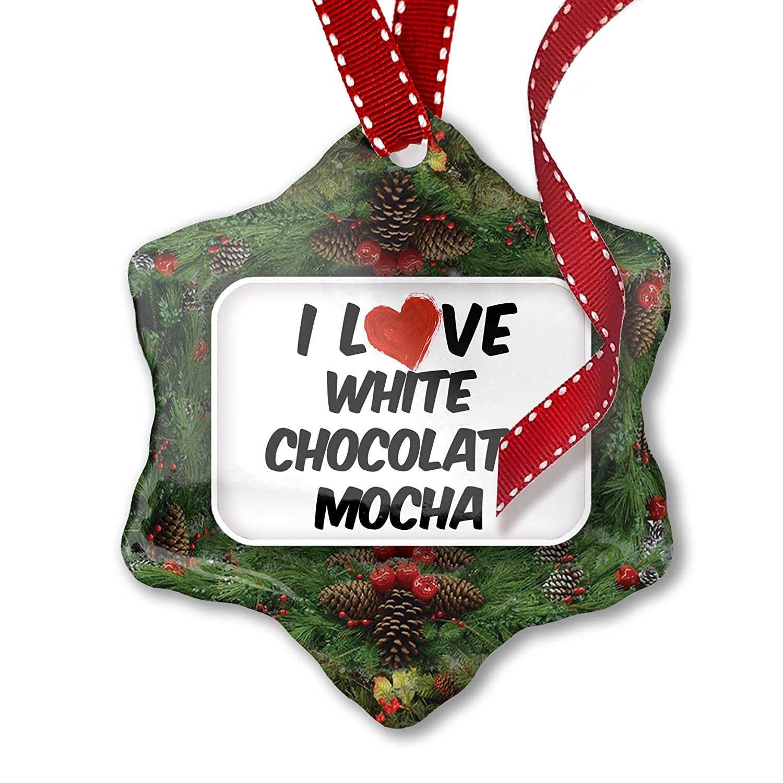 Amazon Com Neonblond Christmas Ornament I Love White