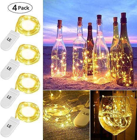 2X Metall Herz Lichterkette Batterie 20 LED Weihnachtsdeko Warmweiße Party Außen