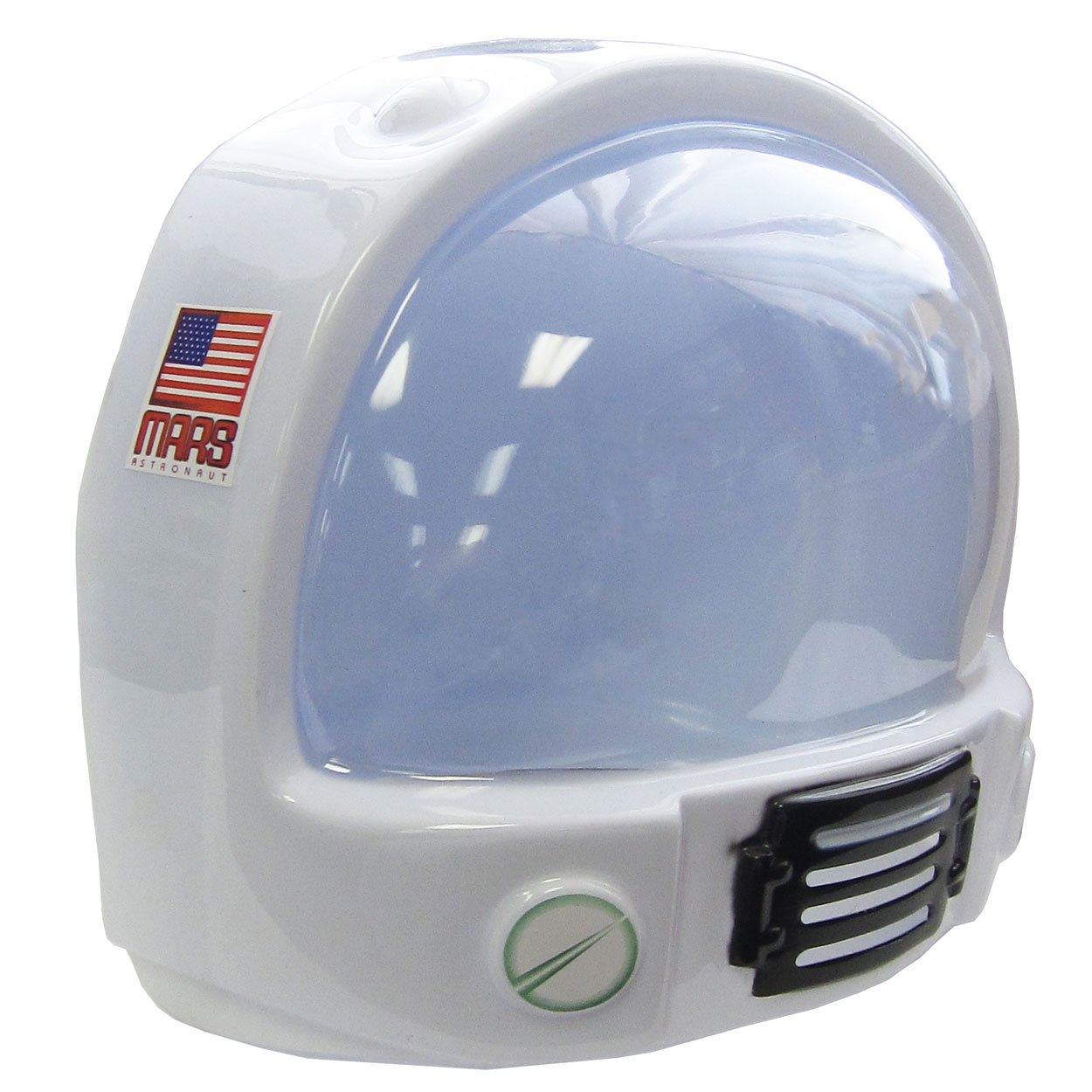 Jacobson Hat Company Adult Toy Space Helmet NASA Astronaut Hat Mask Plastic Costume Accessory,White,One Size