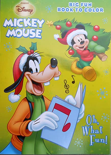 Disney Mickey Mouse Holiday Oh What Fun Christmas Coloring Book