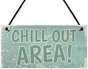 Meijiafei Chill Out Area Hot Tub Man Cave Shed Summer House Shed Garden Hanging Wall Sign Plaque 10