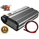 HammerDown 2000 Watt 12V Power Inverter DC 12V to 110V AC Car Inverter - Dual 110V AC Outlets. Automotive Back Up Power Supply for Blenders, Vacuums, Power Tools. MET Approved to UL and CSA