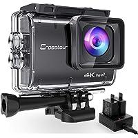 Crosstour CT9500 Äkta 4K/50 Fps Action Cam Undervattenskamera (4K 20 MP WiFi Undervatten 40 m Vattentät Anti-Skakning…