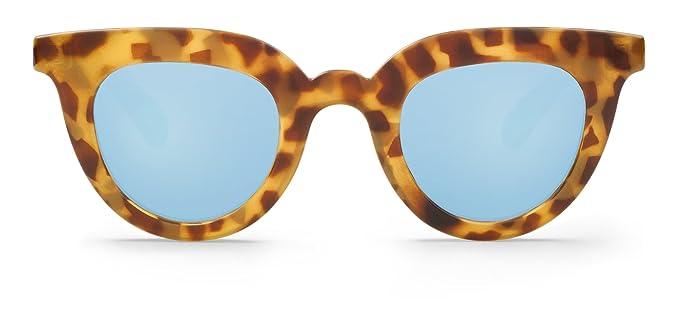 Mr Boho HC Tortoise Hayes with Sky Blue Lenses, Gafas de Sol para Mujer, 44