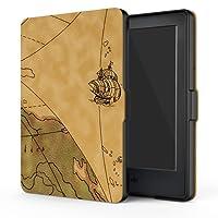 Capa Case Novo Kindle 8a Geração WB Auto Liga/Desliga - Ultra Leve Mapa Retro