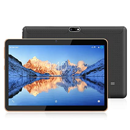Tablets 10.1 Pulgadas Android 9.0 Pie YOTOPT, Quad Core, 4GB de RAM, 48 GB de Memoria Interna, 3G Tablet, Dual SIM, WiFi/ Bluetooth/GPS/OTG - Negro
