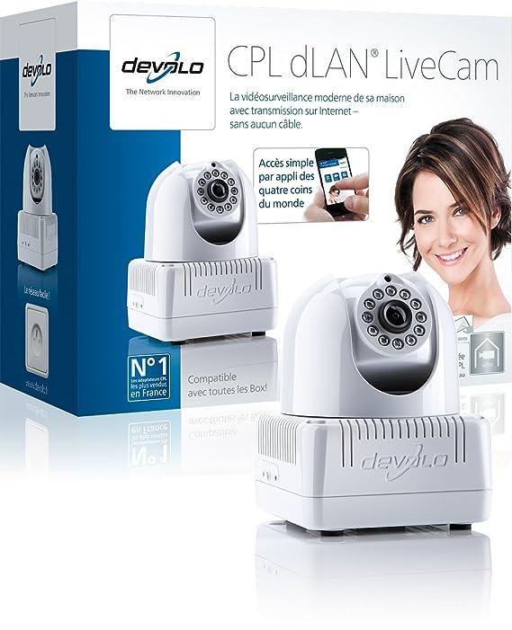 Devolo dLAN LiveCam 640 x 480Pixeles Blanco cámara web - Webcam (640 x 480 Pixeles, M-JPEG, 640 x 480 Pixeles, 3,22 W, Blanco, Clip/Soporte): Amazon.es: ...