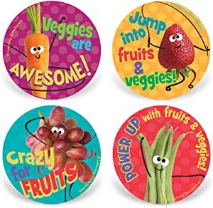 """200 Fruit and Veggie Stickers 