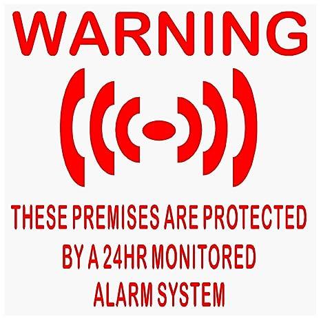 6 pegatinas protectoras para ventanas con sistema de alarma ...