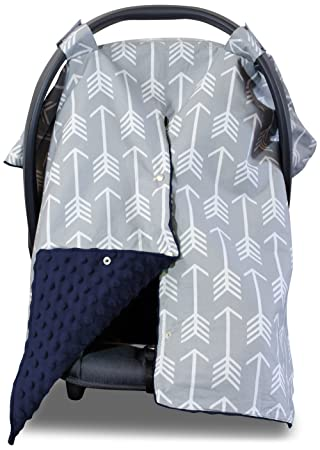 Amazon Com 2 In 1 Carseat Canopy And Nursing Cover Up With Peekaboo Opening Large Infant Car Seat Canopy For Boy Or Girl Best Baby Shower Gift For Breastfeeding Moms