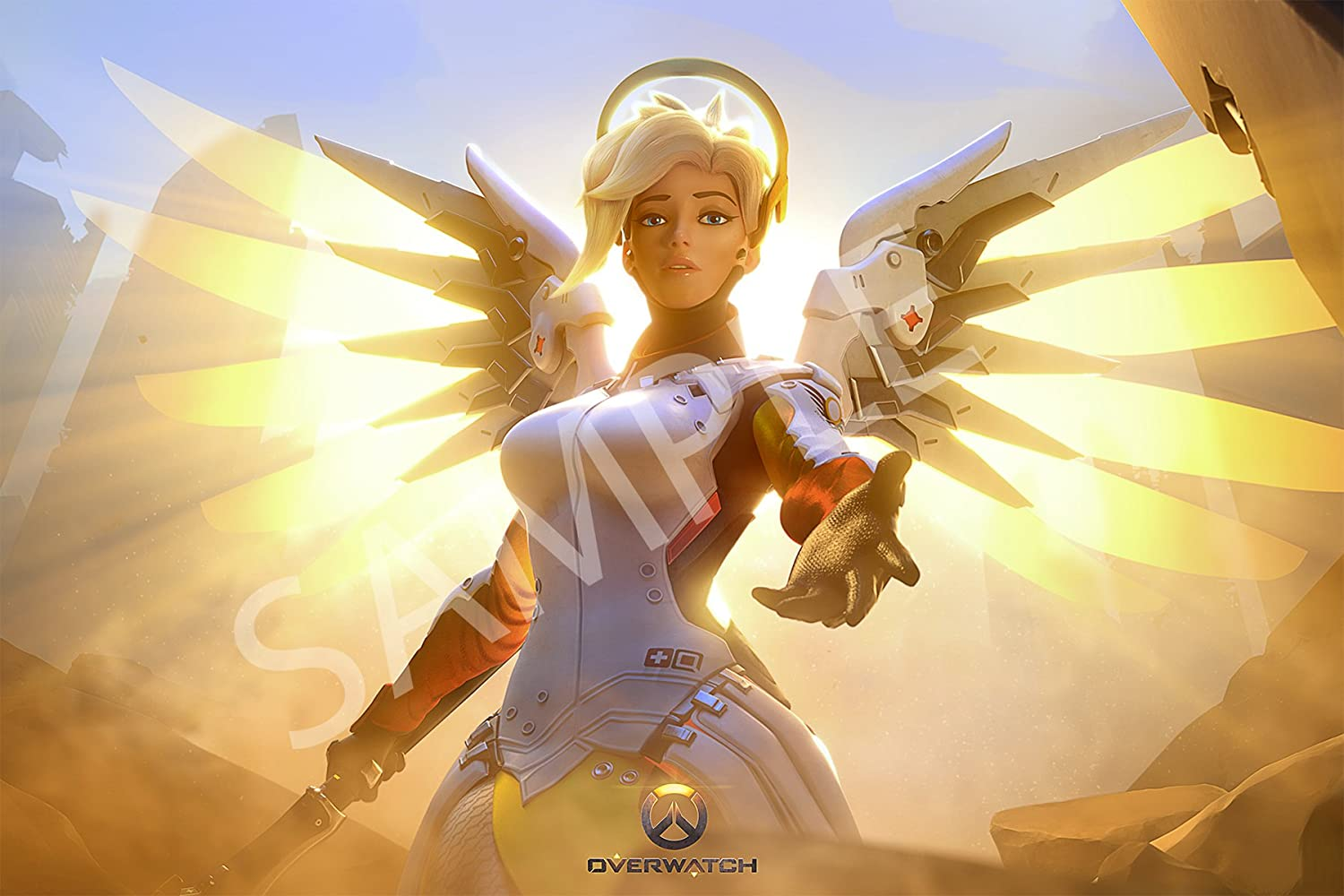Amazon.com: Best Print Store - Overwatch Mercy Poster (24x36 inches ...
