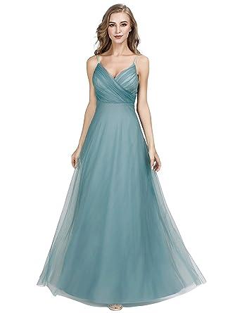 d811110649 Ever-Pretty Women's V-Neck Spaghetti Straps Wedding Party Bridesmaid ...