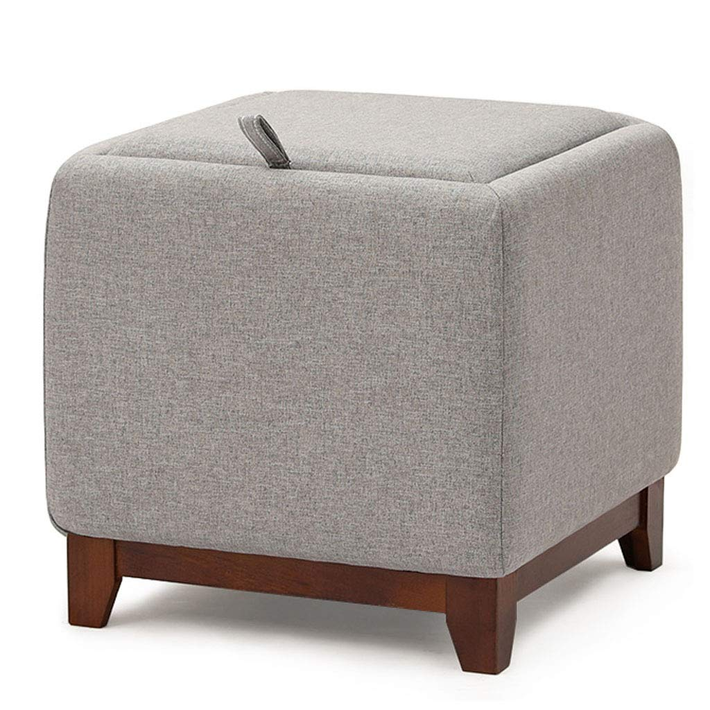 Modern Design Square Ottomans Support Upholstered Footstool Storage Ottoman Pouffe Chair Stool with Removable Cover Hallway, Living Room, Bedroom by SONGTING Ottomans