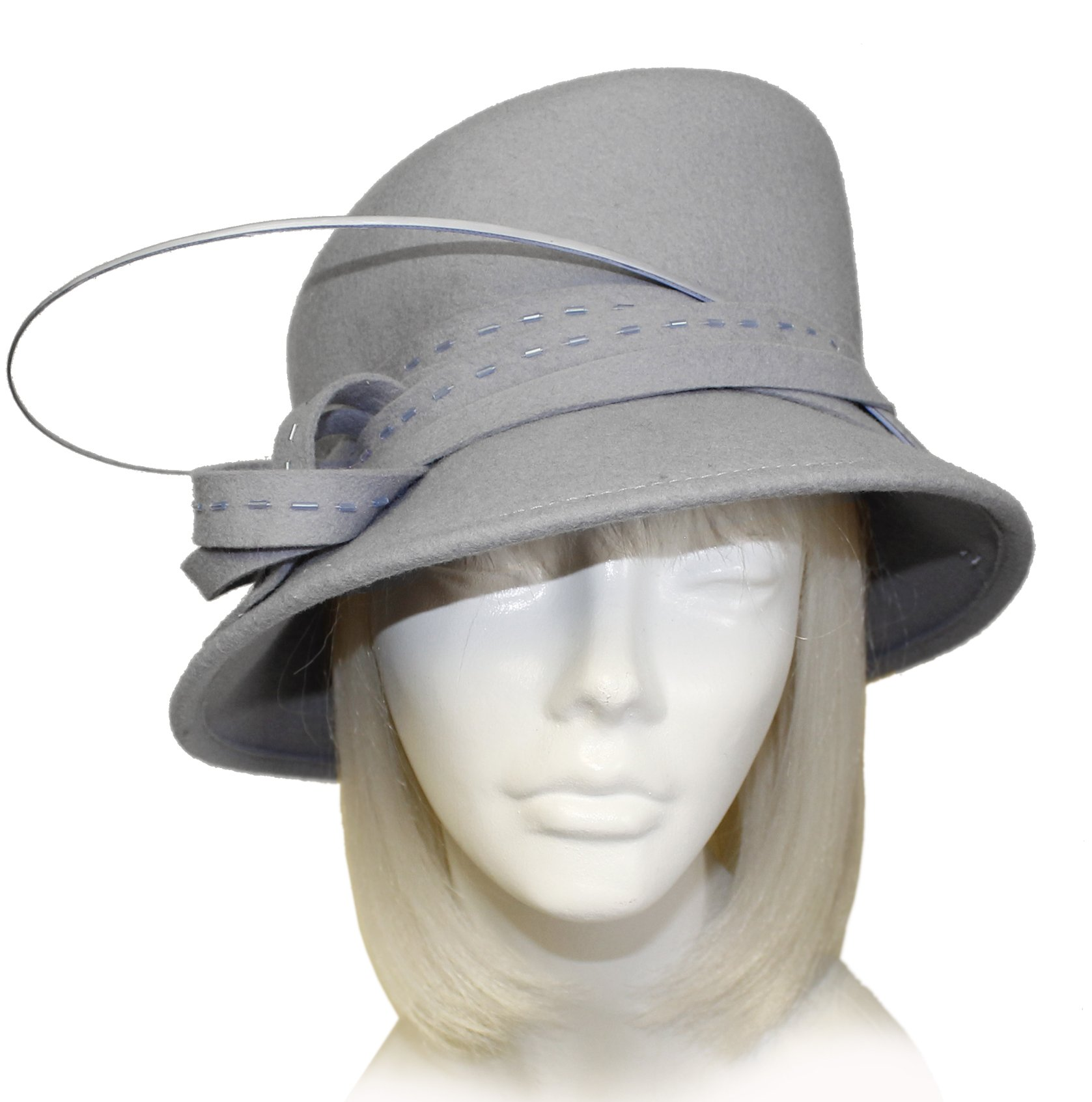 Mr. Song Millinery Cashmere-Soft Felt Bucket Style Hat - L87-477