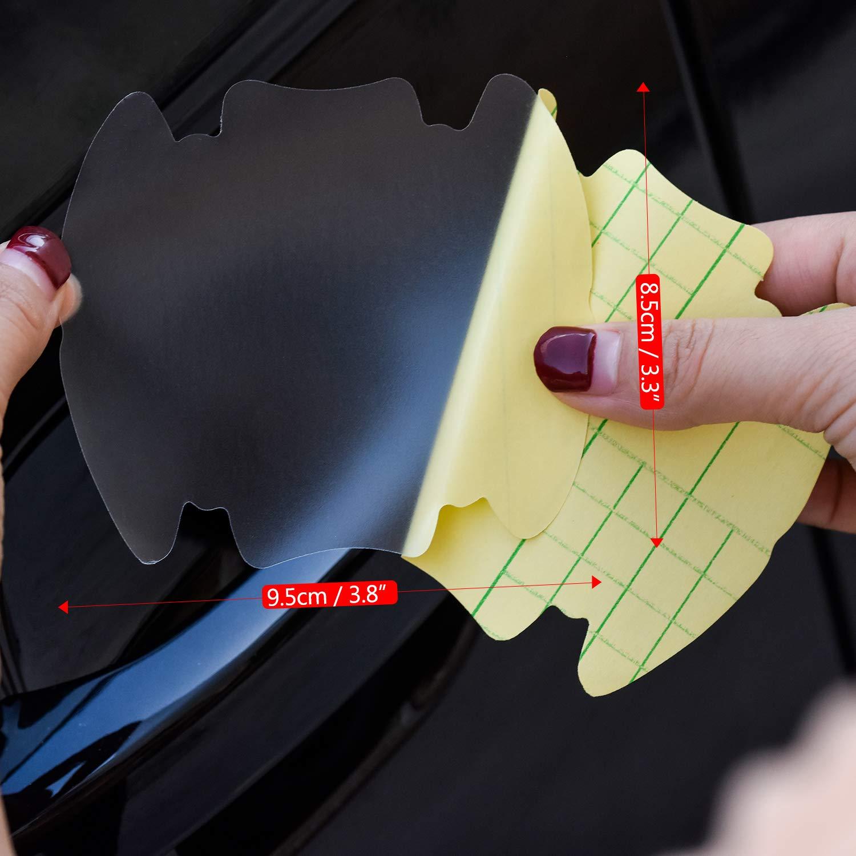 Negro + Plata + Transparente Zuzer 24pcs L/ámina Protectora para Manilla de Puerta de Coche Etiqueta del Coche Accesorios de Coche