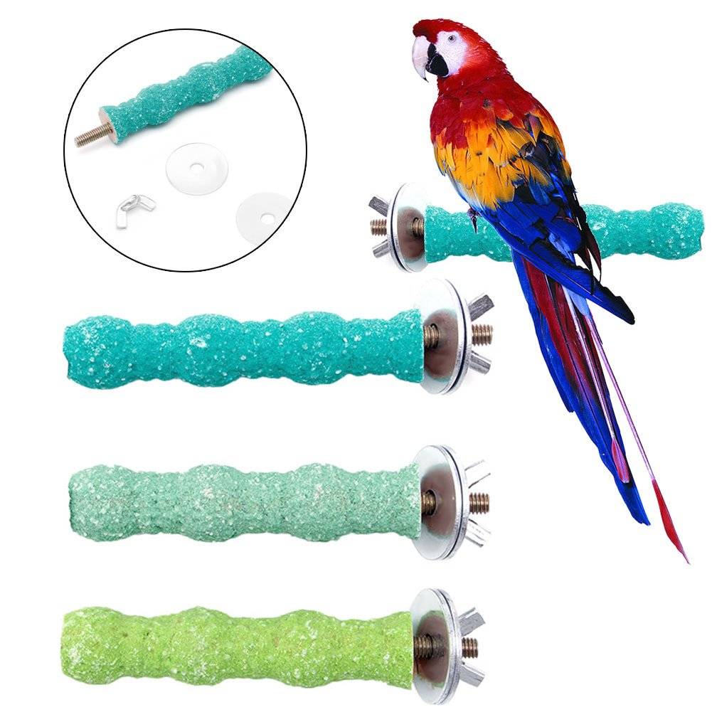 HotelLee Parrot Perch Stand,Pet Bird Parrot Bites Chew Toys Stand Platform Cage Hanging Cockatiel Parakeet
