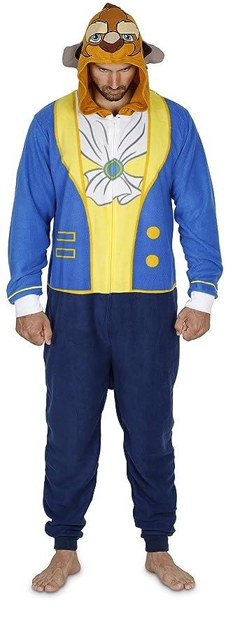 aa01fc211b1f8 Amazon.com: Disney Mickey, Goofy, Beast Men Hooded Union Suit Pajama  Costume: Clothing